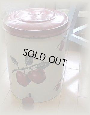 画像1: 20%FF デコウェア りんごトラッシュ缶